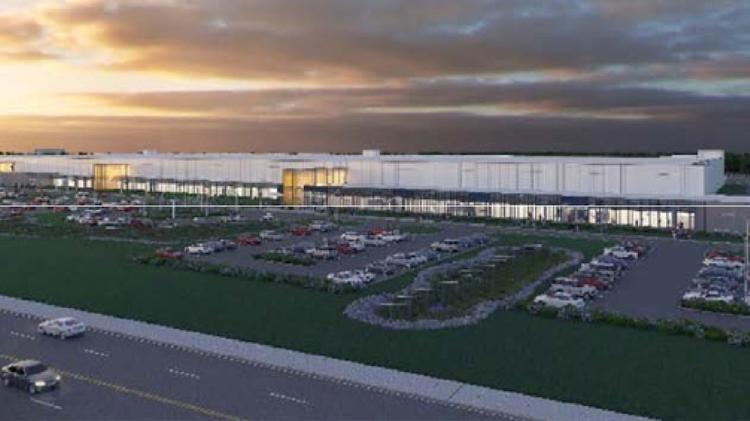 SolarCity plant front-view rendering
